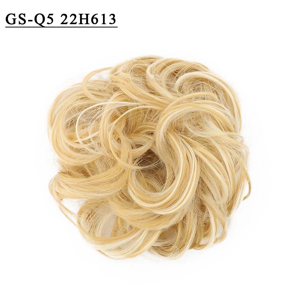 cabelo bun extensões de borracha sintético donut