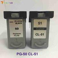 Vilaxh 2PK PG50 CL 51 Ink Cartridge for Canon PG 50 CL 51 For Canon PIXMA MP150 MP160 MP170 MP180 MP450 MP460 MX300 MX318 IP2200