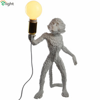Современная Новинка смолы обезьяна светодиодные настольные лампы 3D модель Спальня светодиодные настольные лампы Гостиная Светодиодные На