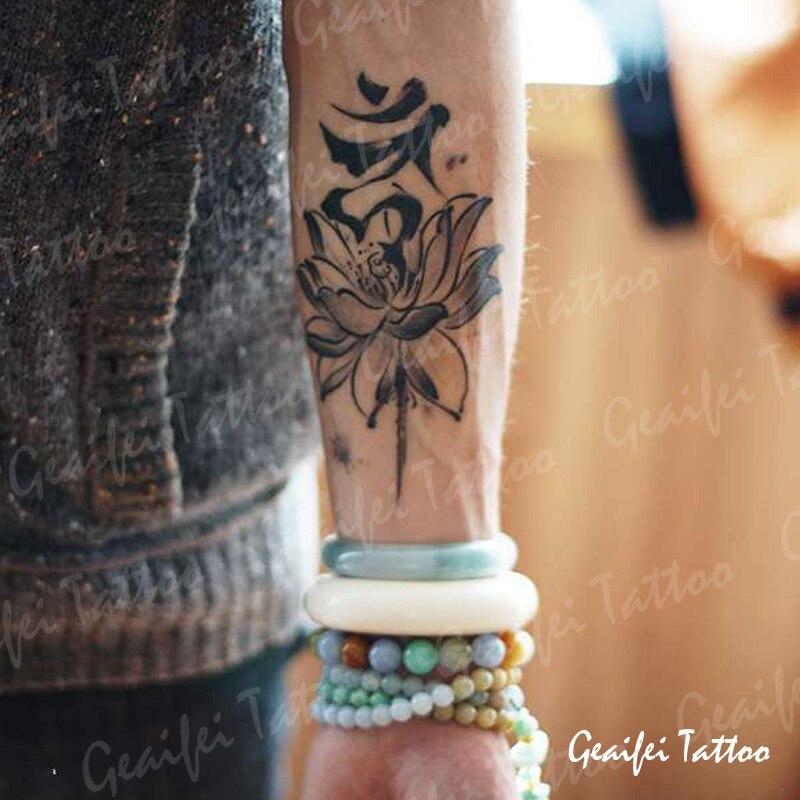 Grote Tijdelijke Tattoo Stickers Waterdicht Mannen Hoge Kwaliteit