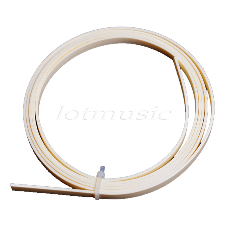 1 Pc ABS Cream Ivory Color Guitar Binding Inlay Purfling Strip 1650mmX6mmX1.5mm