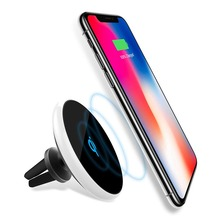 Magnetic Car Phone Holder Fast Qi Wireless Charger pad Air Vent 10W Charge for iPhone X xs 8 plus Samsung s9 s8