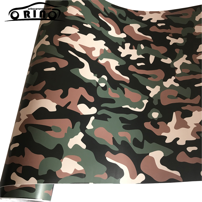 Army Green Black Camo Vinyl Film