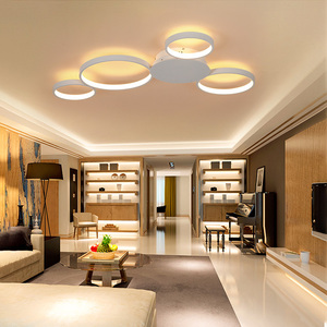 Image 4 - קפה או לבן גימור מודרני led תקרת אורות סלון חדר שינה מחקר חדר הורים AC85 265V Led תקרת מנורת גופי