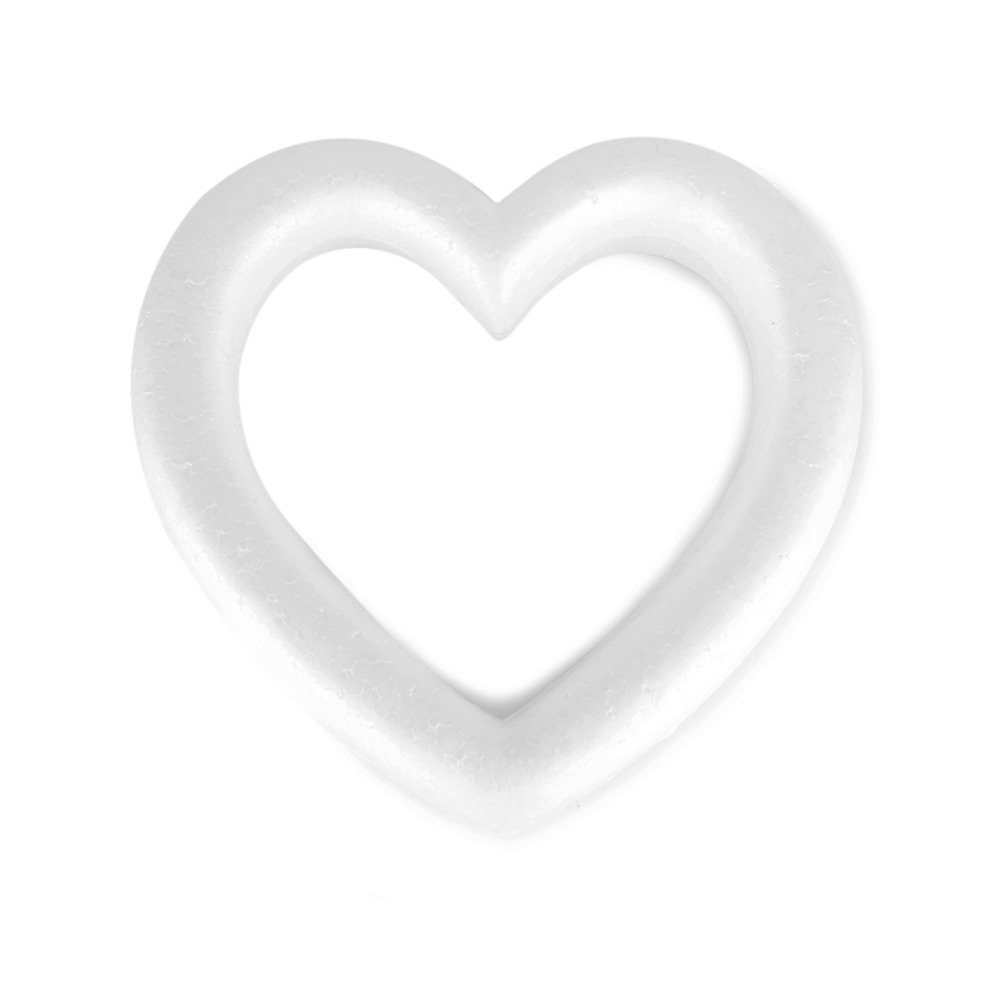 Image 5 - New Heart Shaped Polystyrene Foam Wreath White For DIY Craft Wedding Party Round Love Heart Optional-in Party DIY Decorations from Home & Garden