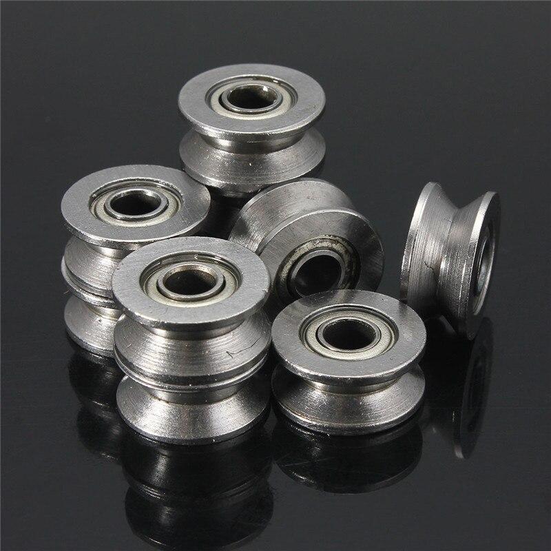 10pcs 624VV V Groove Sealed Ball Bearings Vgroove 4 x 13 x 6mm 2~2.5mm deep/_m*wp