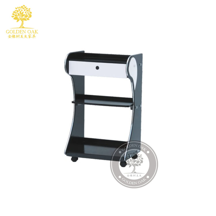 The new beauty salon shelf. Beauty salon trolley. Car hairdressing of - Furniture