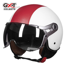 New Moto Half Helmets Vintage Motorcycle Helmet Retro Motorbike Scooter  For Harley helmet MOMO Imitation leather GXT 288