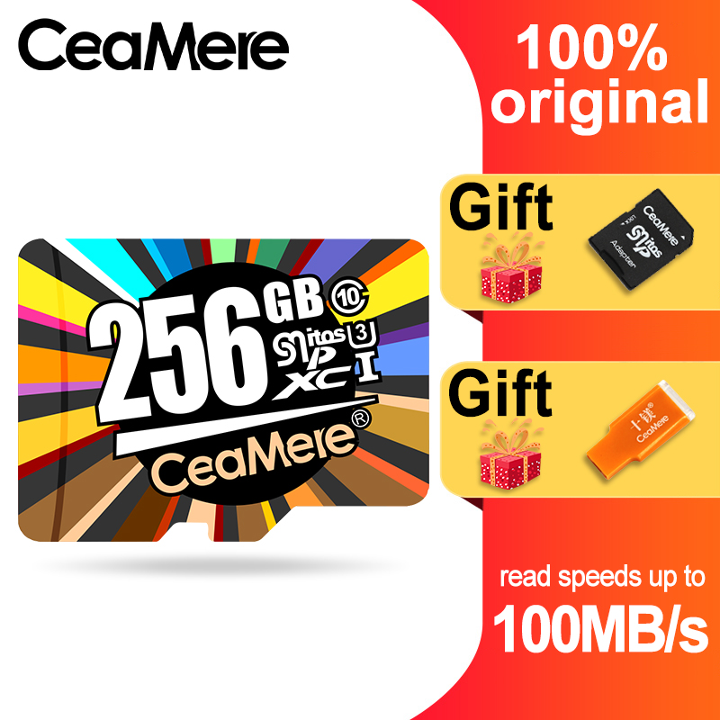 CeaMere Micro SD Card  Class10 UHS-1 8GB Class6 16GB/32GB U1 64GB/128GB/256GB U3 Memory Card Flash Memory Microsd For Smartphone
