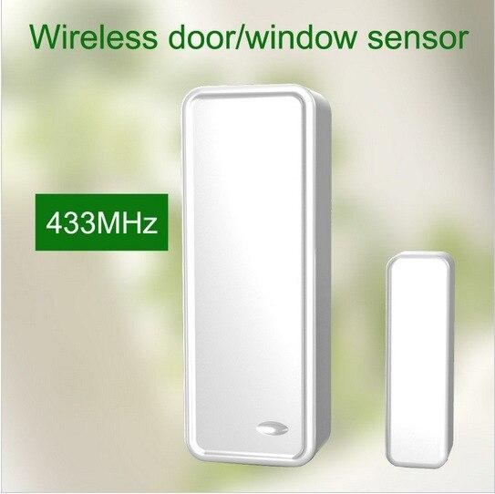 700pcs/lot  433MHZ Wireless Door magnet contact  sensor windows open  sensor  for  wireless  alarm system with Anti tamper