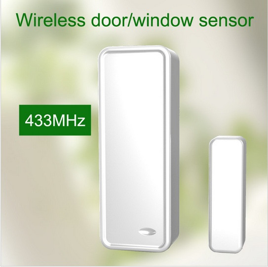 700 pcs/lot 433 mhz aimant De Porte Sans Fil capteur de contact windows ouvert capteur pour système d'alarme sans fil avec autoprotection