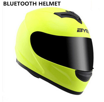 2018 New Motorbike Bluetooth Smart Helmet Motorcycle Integral/full Face Built in Intercom Device Support apple and Android 1
