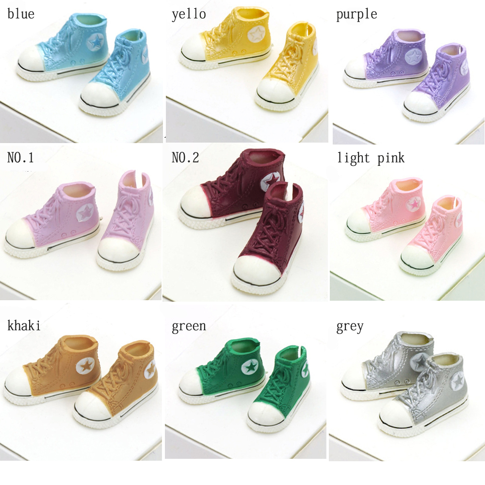 1pair 3.5cm Fashion Plastic Doll Shoes for Blythe BJD Dolls, Ball Joints Doll Accessory Shoes 1pair new fashion sd bjd doll accessories casual shoes for bjd doll 1 4 1 3