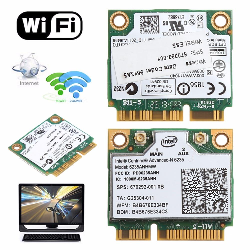 Dual Band 2.4G/5G 300M 802.11a/b/g/n WiFi Bluetooth 4.0 Wireless Half Mini PCI-E Card For Intel Centrino Advanced-N 6235ANHMW(China)