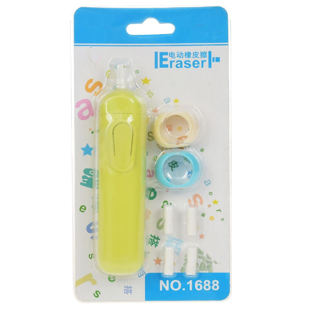 Automatic Rotary Electric Eraser Portable Fashion Student Eraser Battery Operate Easy Use School Office Supplies
