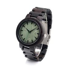 BOBO de AVES C29 Handmde hombres De Madera de Cuarzo Reloj Clásico Hebilla Desplegable Reloj de Pulsera con Banda De Madera Original