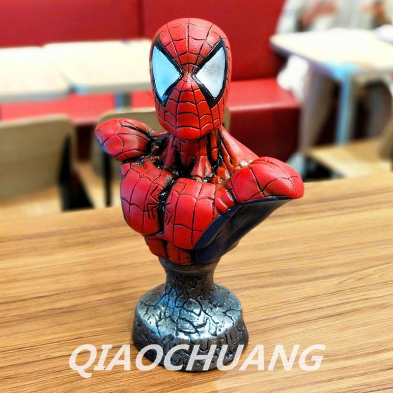 The Amazing Spider-Man Statue Avengers Bust Superhero Spider-Man Peter Parker Half-Length Photo Or Portrait Resin Model Toy W259 captain america 3 civil war 1 1 scale spider man bust starscream statue life size half length photo or portrait model wu594