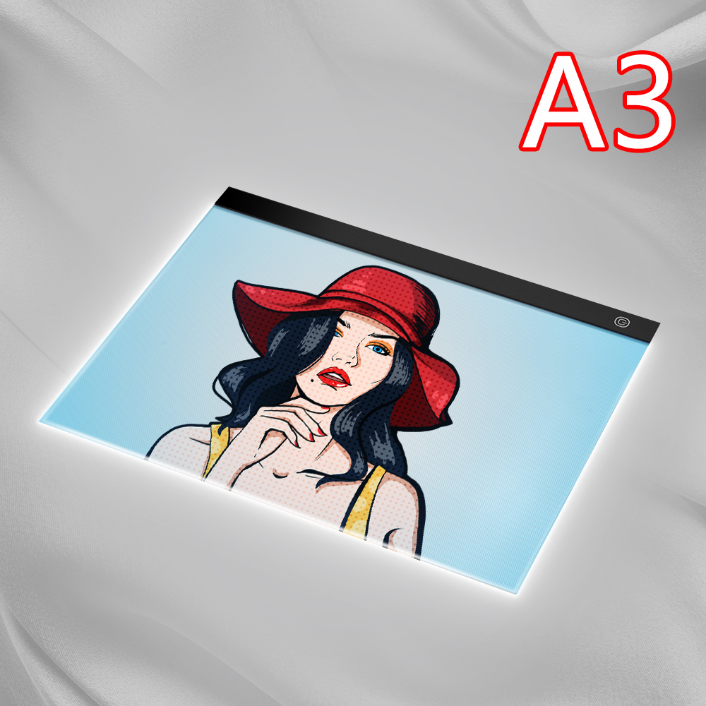 A3 LED Light Box Tracer Digital Tablet Graphic Tablet Writing Painting  Drawing Copy Pad Board Artcraft Sketch Hotfix rhinestone