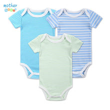 3Pcs/Lot Short Sleeve Baby Bodysuit 100% Cotton Newborn Baby Clothes Baby Boy Summer Infant Baby Barboteuse Jumpsuit Clothing