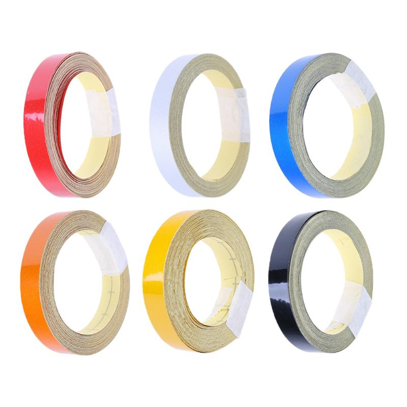 5m/roll Car Reflective Tape Auto Motorcycle Bicycle Safety Reflective Material Film Warning Tape Car Styling Ornament Sticker 1cm x 5m 3m car motorcycle reflective tape sticker original 3m brand with free shipping