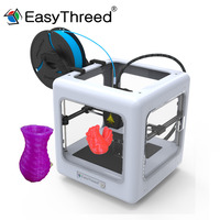 2018 3D Printer NANO Mini EasyThreed For Kids Metal ABS Frame High Precision Nozzle Extruder Board Bed Parts Kit No Assembly