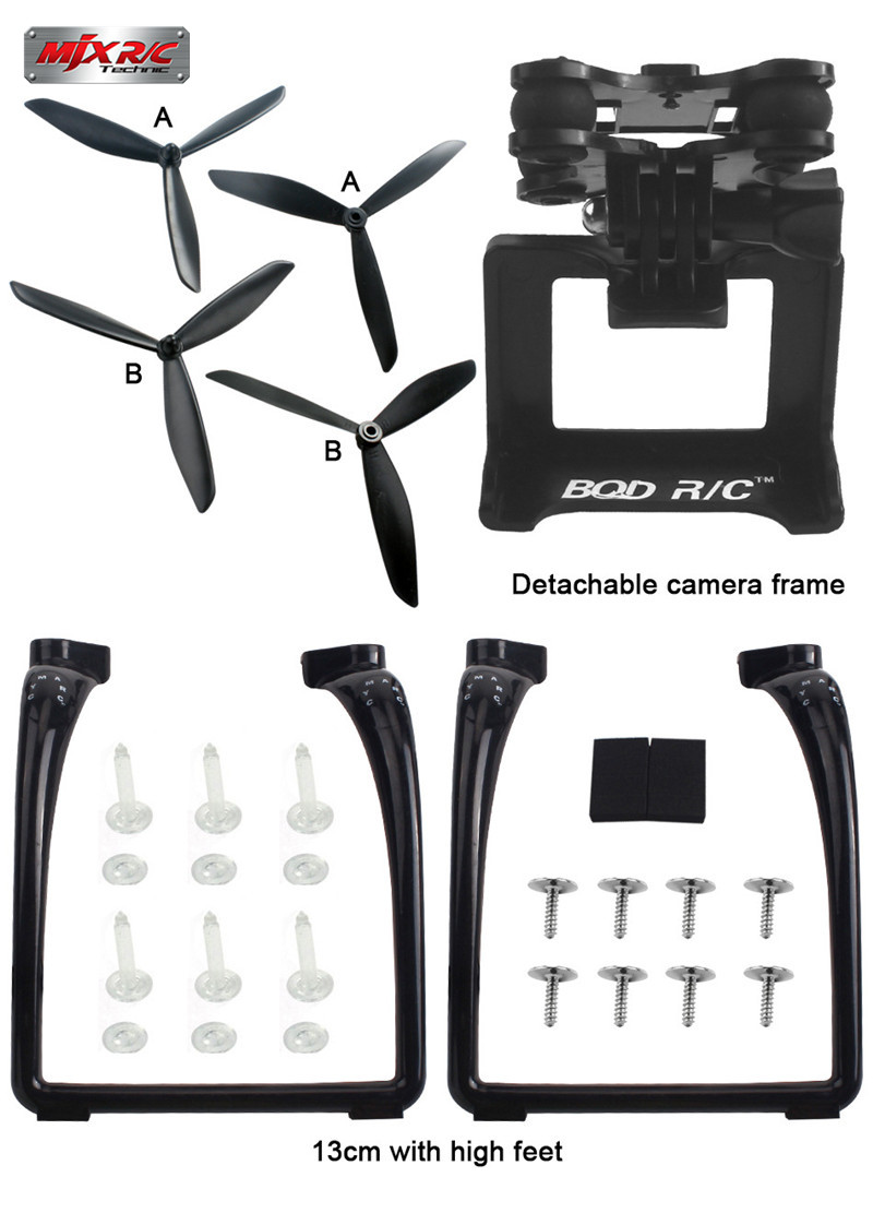 Best Deal MJX B3 Bugs 3 Upgraded Triangular Propeller Landing Gear Gimbal Mount Camera Holder RC FPV Camera Drone Accessories радиоуправляемый инверторный квадрокоптер mjx x904 rtf 2 4g x904 mjx
