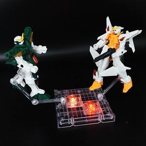 Image 4 - 1set 18*16cm Stage Act 2 arms Bracket Model Soul Bracket with LED Stand For gundam plastic model Robot Saint Seiya Toy Figure