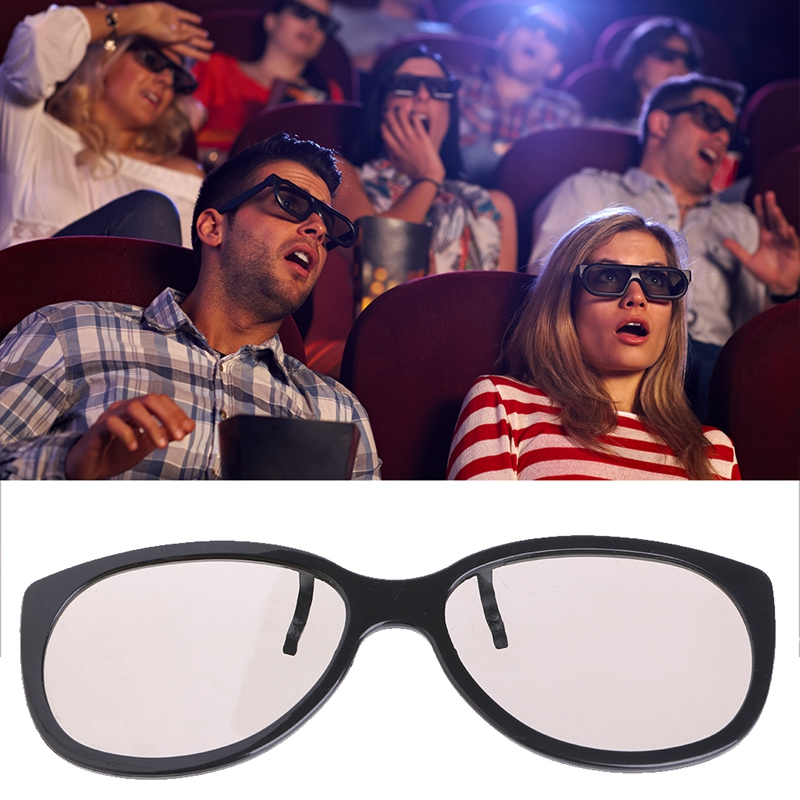 Clip-On Type Circular Passive Polarized 3D Glasses For TV Real 3D Cinema 0.22mm