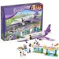 Nuevo 79174/79175 amigos heartlake city airport diy construcción ladrillo juguetes niñas regalo de navidad compatible lepin 41109