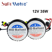 SUFEMOTEC 2PC Xenon HID Kit 12V 35W AC Mini Round Ballast For H7 H1 H3 H11 H4 Bi Xenon HID Ballast Car Light Source Super Bright