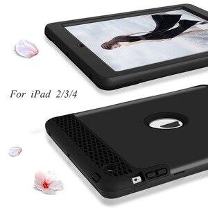 Image 3 - Für iPad 4 Tablet Fall High Impact 3 in 1 Hybird Volle körper PC Robuste Drop Schutz Abdeckung Fall für Apple iPad 4 3 2 Coque Capa
