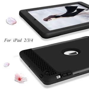 Image 3 - Funda para iPad 4, Tablet de alto impacto 3 en 1, Hybird, PC de cuerpo entero, cubierta de protección contra caídas resistente para Apple iPad 4 3 2, funda