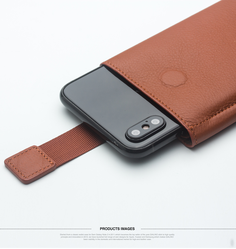 QIALINO Genuine Leather Phone Cases Wallet Pouch With Card Slot
