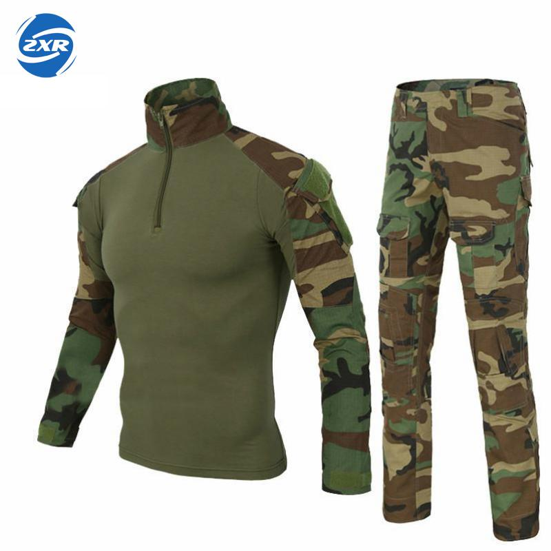 Military Uniform Multicam Army Combat Shirt Uniform Tactical Pants No Knee Pads Camouflage Suit Hunting Clothes Jacket & Pants kryptek mandrake frog fighting suit police frog uniforms army trainning uniform set one long sleeve shirt and one tactical pant