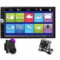 7 HD Digital Display Car Radio 2 Din MP5 Car Player Bluetooth FM USB AUX Car Audio Stereo With Reverse Camera Radios Para Auto