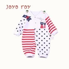 Joyo roy Baby Rompers Autumn Long Sleeve Newborn Pajamas & Sleepwear Clothing Clothes Winter CottonR