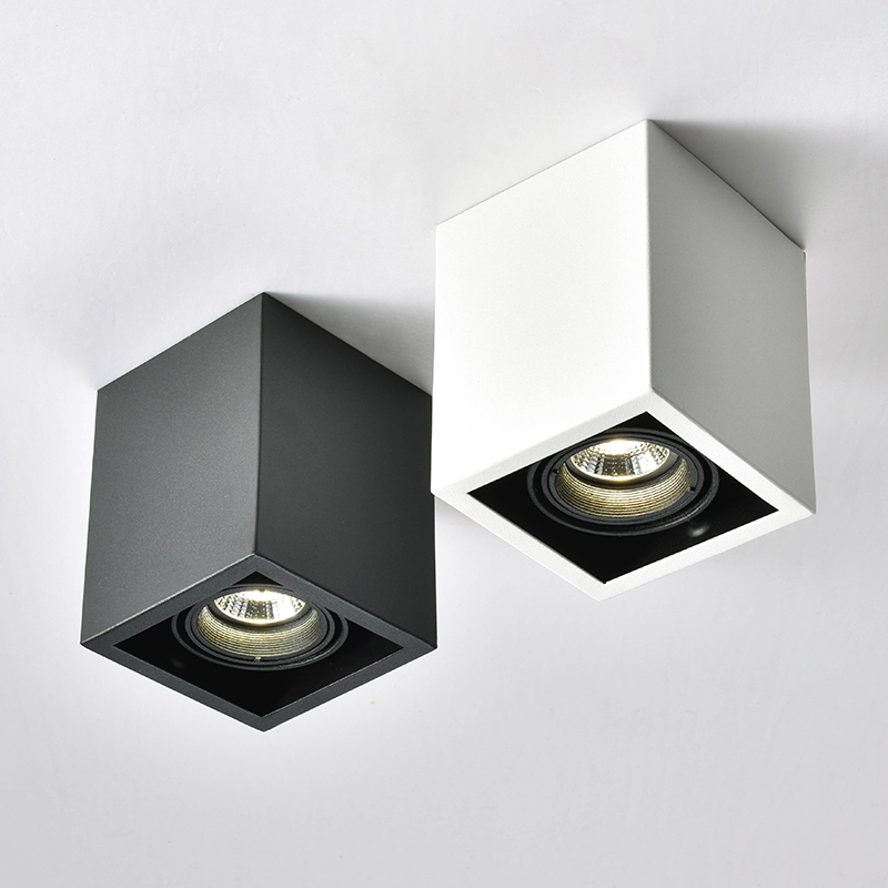 LED Ceiling Lights Single spot LED lamps Replaceable GU10 5W led bulbs ceiling light Square lamp decorations Lighting for home led gold deco chandelier bulbs candle light e14 85 265v 5w lamps