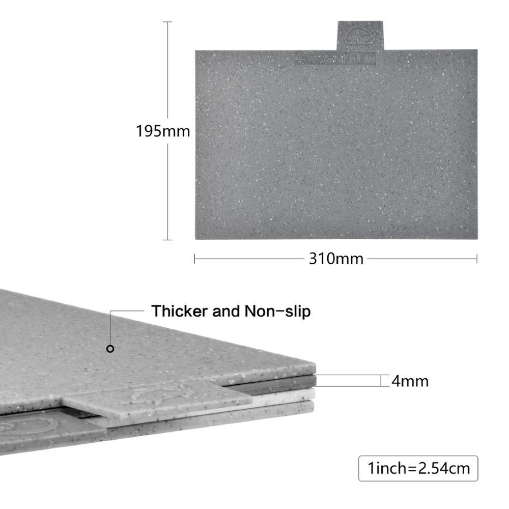 Image 5 - Fissman Anti Bacterium Plastic Chopping Block Non slip Marble  Coating Plastic Mats Cutting Board with Stand 4pcs SetsChopping Blocks
