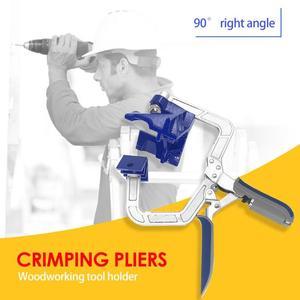 Image 2 - 1pc 90 תואר ימני זווית נגרות מהדק תמונה מסגרת פינת קליפ יד כלי מלחציים לעיבוד עץ