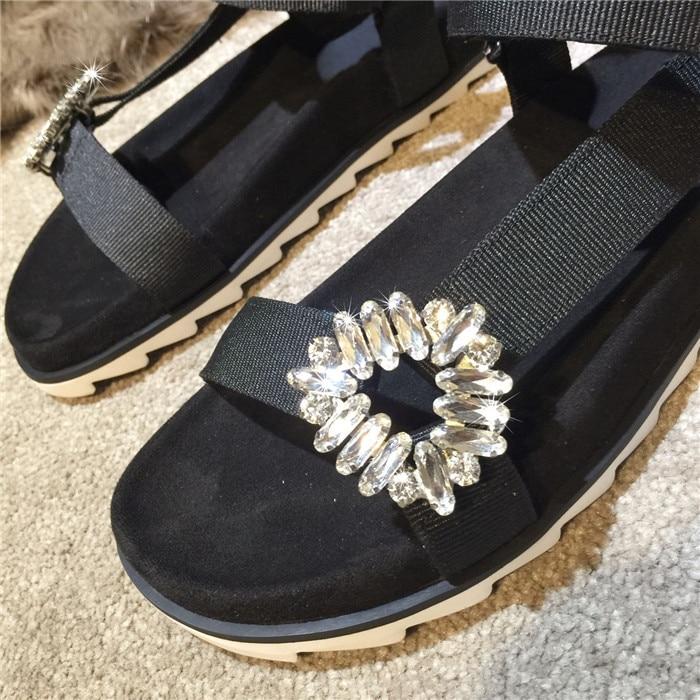 Appartements Sandales Fleur Qualité Bout Embelli De Gladiateur À Ouvert Femmes Marque Pic As Chaussures Nouveau Haute Femme Motif Fille Cristal qwdXpcZ