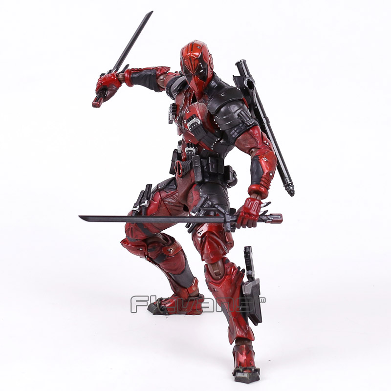 PLAY ARTS KAI Marvel Deadpool PVC Action Figure Collectible Model Toy 25cm  funko pop marvel deadpool 20 bobble head pvc action figure collectible model toy 4 10cm kt2203