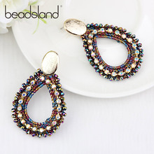 Beadsland Drop Earrings Thread Crochet Glass Beads Water Fashion Bohemia For Woman Girl Party Festival Hot Sell Gif 40231