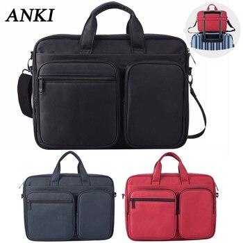 f1ac2da8bc82 ANKI 2018 новая женская сумка почтальона через плечо 14 15,6 чехол для  ноутбука Macbook