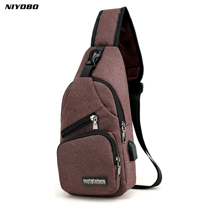 NIYOBO Women Single Shoulder Strap Bag Waterproof Male Knapsack Sling Chest Back Pack Bags Unisex Crossbody Bag