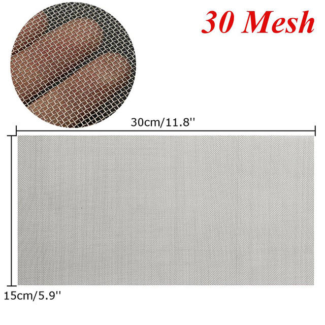 fbacbbbbf 1pc Stainless Steel Woven Wire Mesh 5/8/20/30/40 Mesh Cloth Screen ...