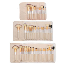 Makeup Brush Set 12/18 24 pcs Soft Synthetic Professional Cosmetic Make up Foundation Blush Fan Eye Beauty Brushes with Bag цены