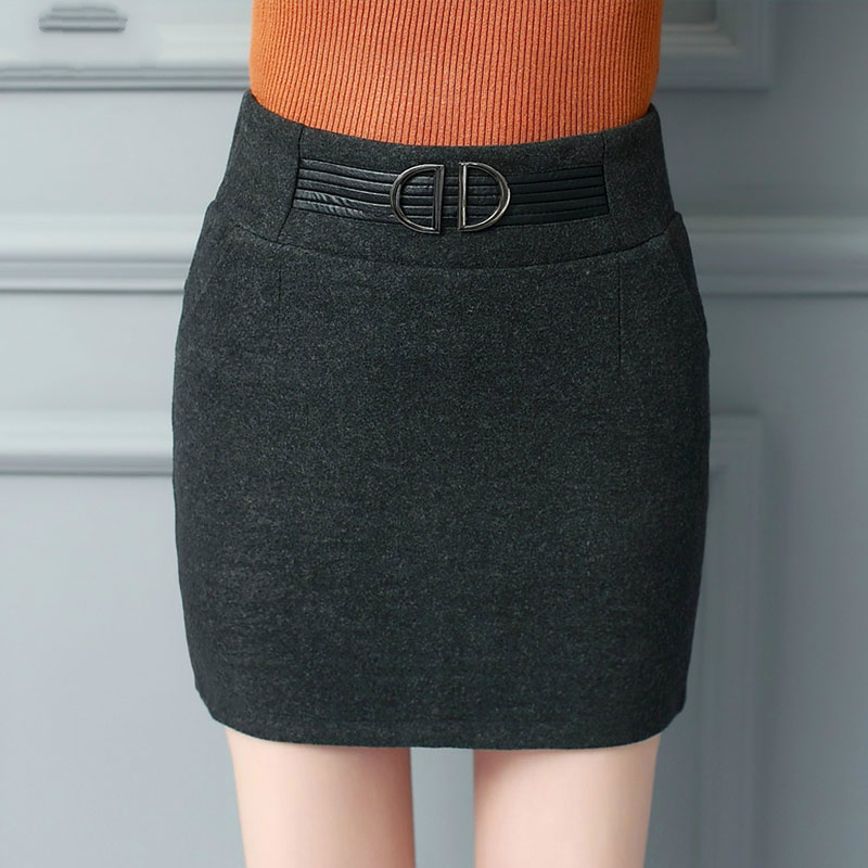 2018 new autumn and winter Fashion casual sexy empire Stretch female women girls mini pencil skirts clothes