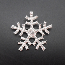 2016 New Winter Fashion Shiny Rhinestone Hot Snowflake Twinkle Silver Brooch Pin For Christmas Gift, Item No.: MRH326