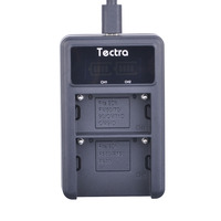 Tectra NEW NP F970 F960 NP F550 LED Display Universal USB Digital Charger For Sony Video