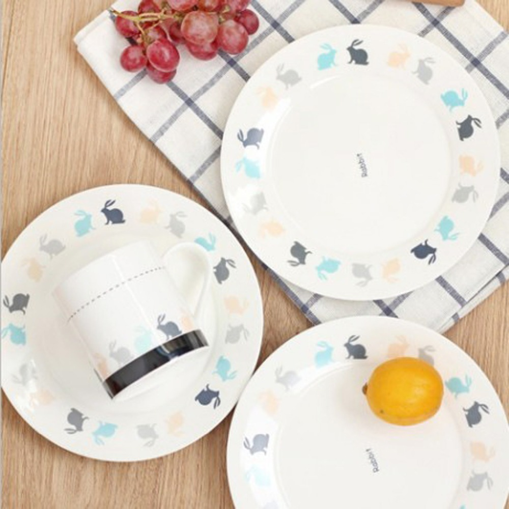 5 Pieces Lot Nordic Style Keyama White Rabbit Series